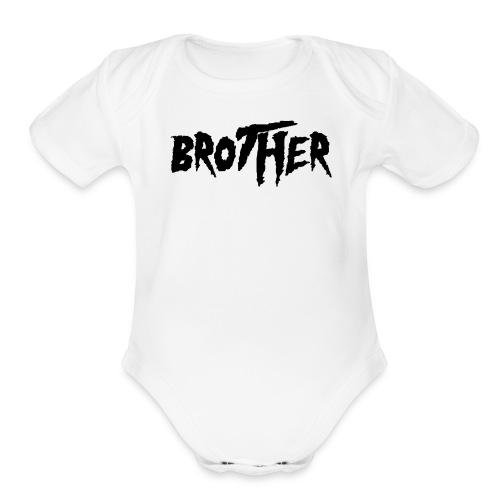 Hulk-A-Brother Black - Organic Short Sleeve Baby Bodysuit