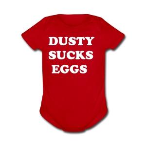 Terry hates Dusty - Short Sleeve Baby Bodysuit