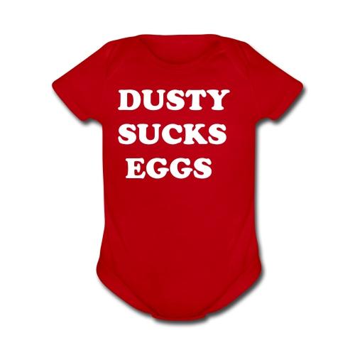 Terry hates Dusty - Organic Short Sleeve Baby Bodysuit