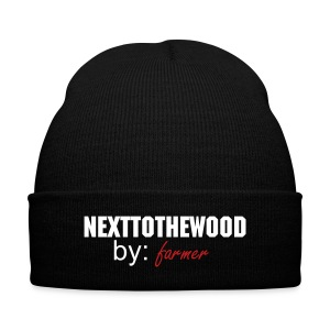 next to the wood knit cap - Knit Cap with Cuff Print