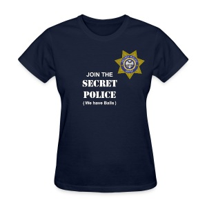Secret Police Balls f - Women's T-Shirt