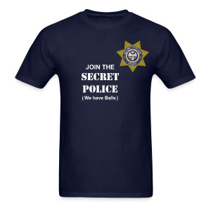 Secret Police Balls - Men's T-Shirt