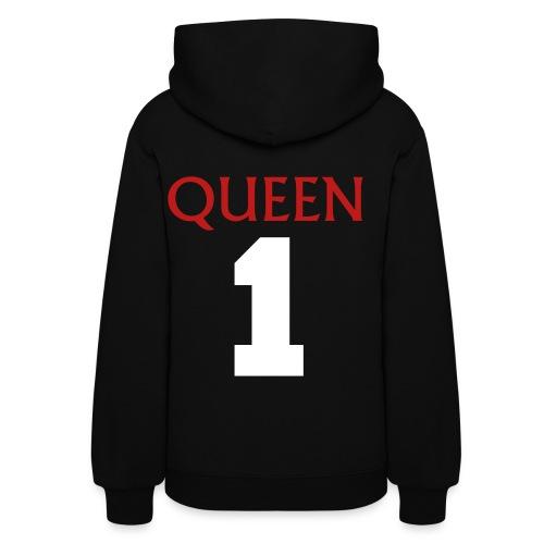 Queen red (glitter) hoodie - Women's Hoodie