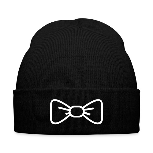 Bow Touqe - Knit Cap with Cuff Print