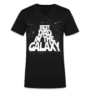 T-Shirts ~ Men's V-Neck T-Shirt by Canvas ~ Best Dad in Galaxy