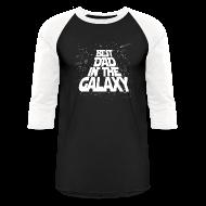 T-Shirts ~ Men's Baseball T-Shirt ~ Best Dad in Galaxy