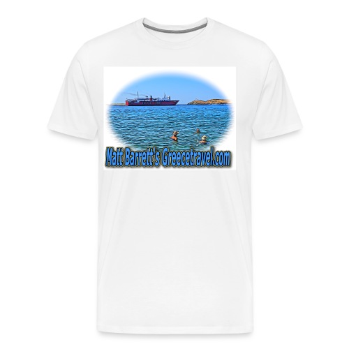 GreeceTravel Ferry Swimmers (men) - Men's Premium T-Shirt