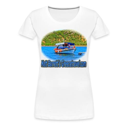 GreeceTravel Fishing Boat (women) - Women's Premium T-Shirt