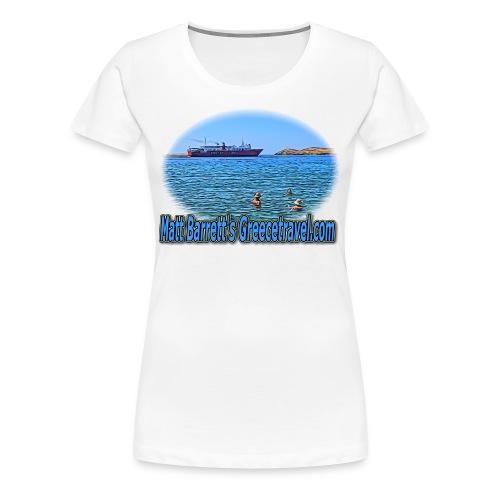 GreeceTravel Ferry Swimmers (women) - Women's Premium T-Shirt