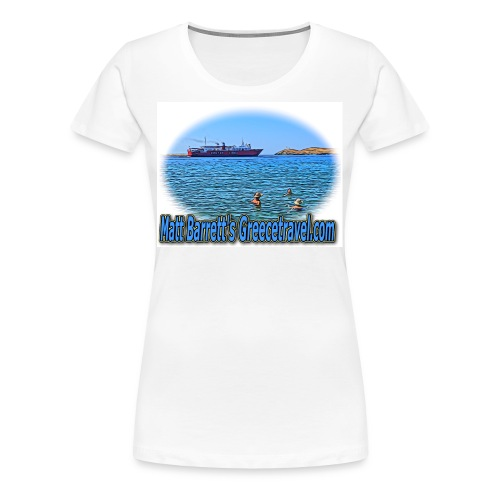 GreeceTravel Ferry Swimmers (women) - Women's Premium T-Shirt