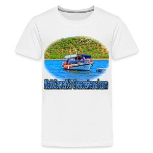 GreeceTravel Fishing Boat (kids) - Kids' Premium T-Shirt