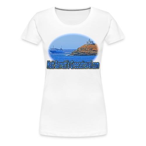 GREECETRAVELFERRY (women) - Women's Premium T-Shirt