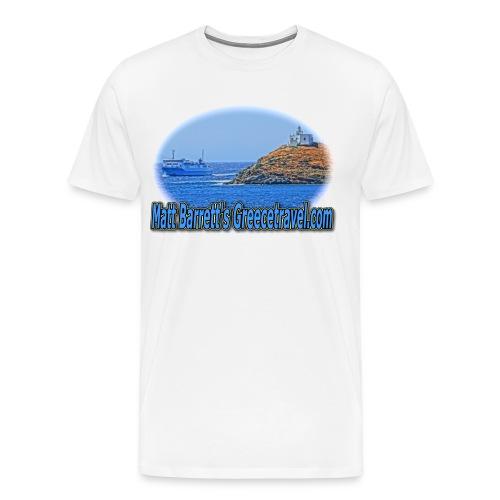 GREECETRAVELFERRY (men) - Men's Premium T-Shirt