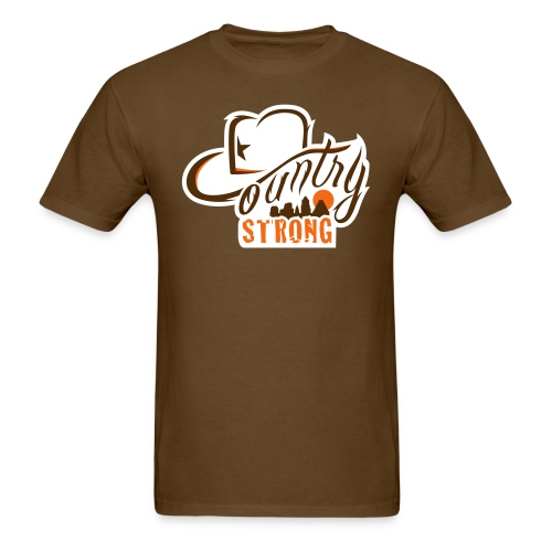 Country Strong Brown Shirt - Men's T-Shirt