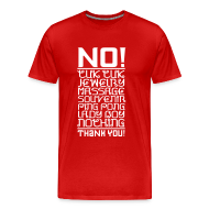 T-Shirts ~ Men's Premium T-Shirt ~ No Taxi - No Tuk Tuk v.2