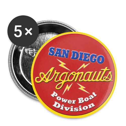 POWER Argonauts Boat Pin - Large Buttons