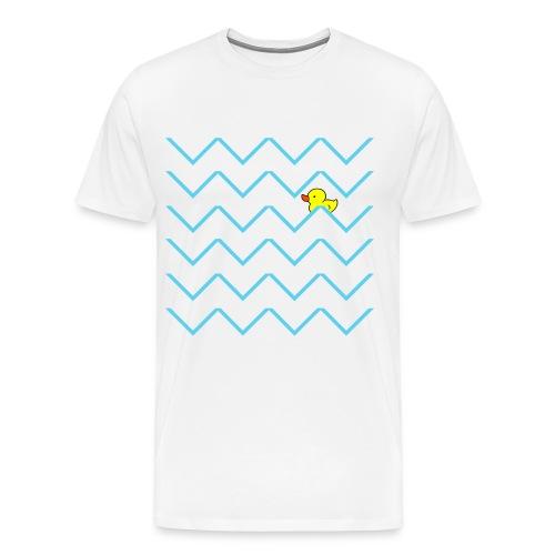 Men's swimming duck T-shirt | Love My T-shirts - Men's Premium T-Shirt