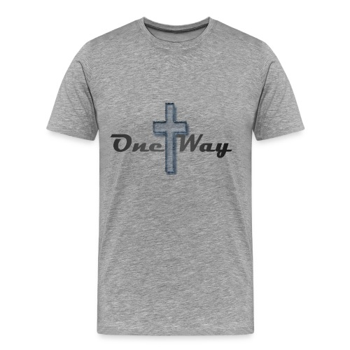 One Way Transparent Blue Cross Men's - Men's Premium T-Shirt