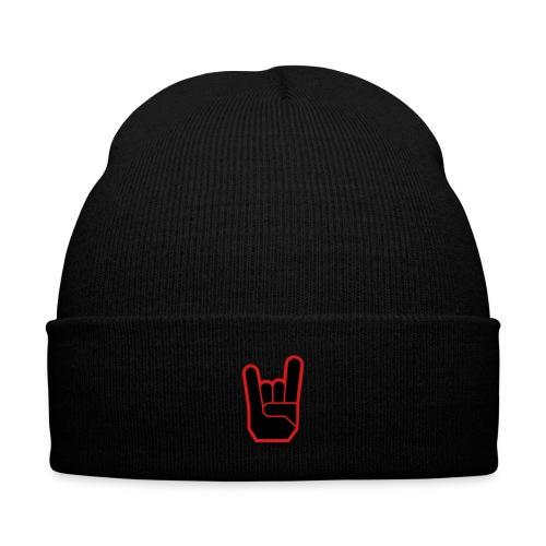 Metal Cap - Knit Cap with Cuff Print