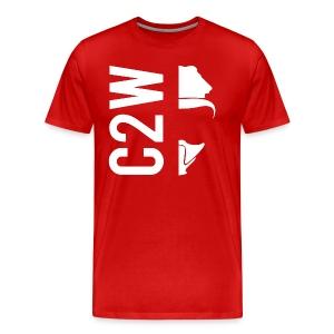 C2W Split Logo - White - Premium Tee - Men's Premium T-Shirt