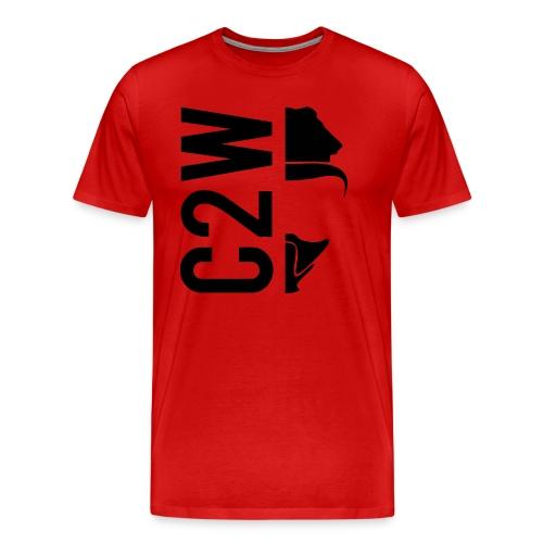 C2W Split Logo - Black - Premium Tee - Men's Premium T-Shirt