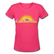 Women's T-Shirts ~ Women's V-Neck T-Shirt ~ California vintage used