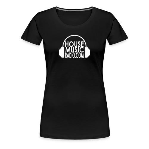 House Music Radio White Font Premium T-shirt Women - Women's Premium T-Shirt
