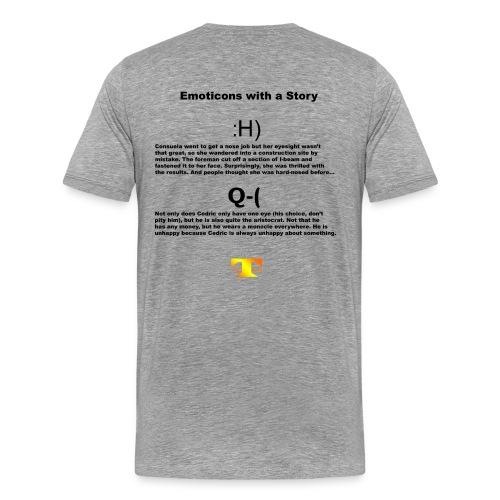 Emoticons with a Story #2 (light) - Men's Premium T-Shirt