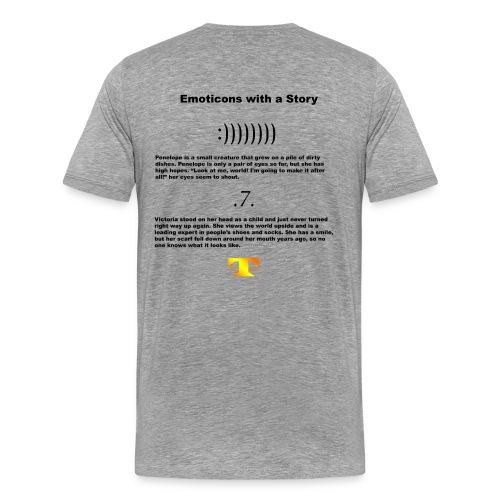 Emoticons with a Story #1 (light) - Men's Premium T-Shirt
