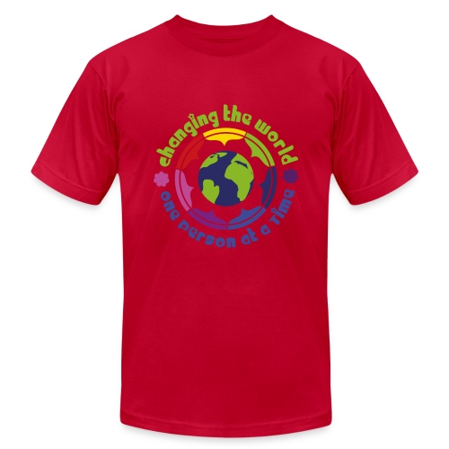T-shirt Man 'World' - Men's Fine Jersey T-Shirt