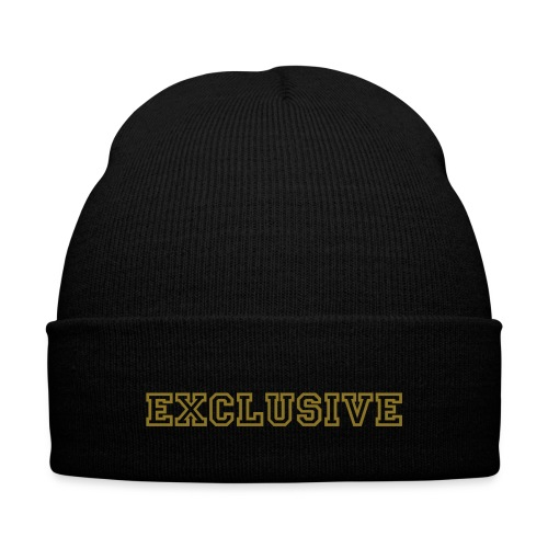Exclusive Knit Cap - Knit Cap with Cuff Print