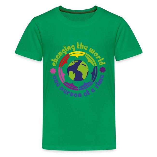 Rainbow Yoga   T-shirt Kids World - Kids Premium T-Shirt 5e21684ae8