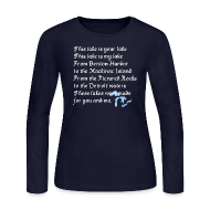 Long Sleeve Shirts ~ Women's Long Sleeve Jersey T-Shirt ~ This Lake is Your Lake