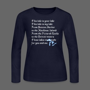 This Lake is Your Lake - Women's Long Sleeve Jersey T-Shirt