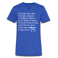 T-Shirts ~ Men's V-Neck T-Shirt by Canvas ~ This Lake is Your Lake