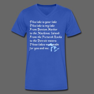 This Lake is Your Lake - Men's V-Neck T-Shirt by Canvas