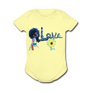Love Life - Short Sleeve Baby Bodysuit