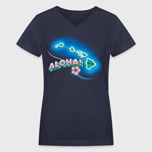 Hawaii Kawaii - Women's V-Neck T-Shirt