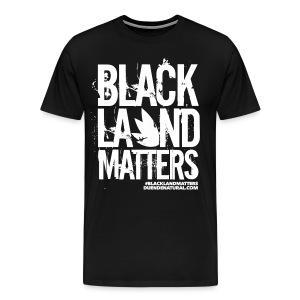 Duende #BlackLandMatters Men's-White - Men's Premium T-Shirt