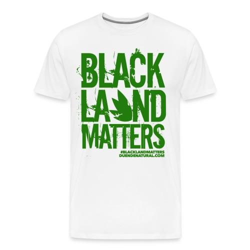 Duende #BlackLandMatters Men's-Green - Men's Premium T-Shirt
