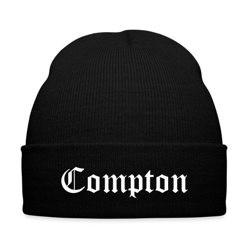 BLK Compton Beanie - Knit Cap with Cuff Print