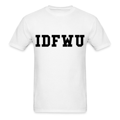 #IDFWU White/BLK Tee - Men's T-Shirt