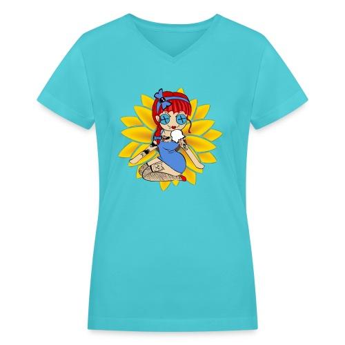 Kansas Women's V-neck T-shirt - Women's V-Neck T-Shirt