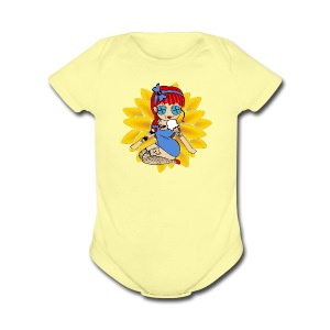 Kansas Baby One Piece Short Sleeve - Short Sleeve Baby Bodysuit