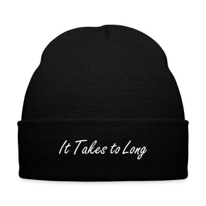 Takes to Long Beanie - Knit Cap with Cuff Print