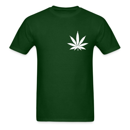 Forest Green 420 Front/Back Tee - Men's T-Shirt