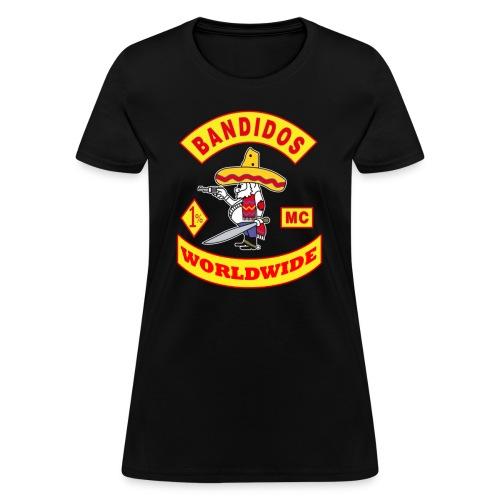 t-shirt bandidos club worldwide bandidos  - Women's T-Shirt