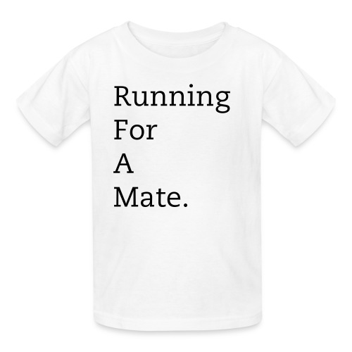 Kid's Running For A Mate T-Shirt (White) - Kids' T-Shirt