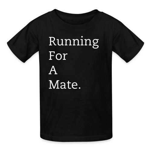 Kid's Running For A Mate T-Shirt (Black) - Kids' T-Shirt