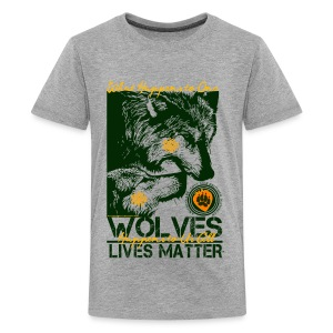 Wolves Lives Matter™ - Love Our Brother, Ma'iingan - Kids' Premium T-Shirt